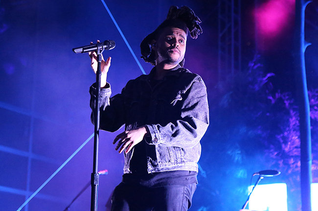 The Weeknd performs live in New York City on June 2, 2015, only a few months before the release of his latest album, Beauty Behind the Madness.