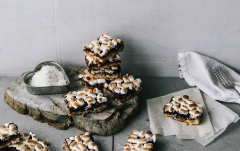 Delicious White Chocolate Coconut and Banana S'more Bars
