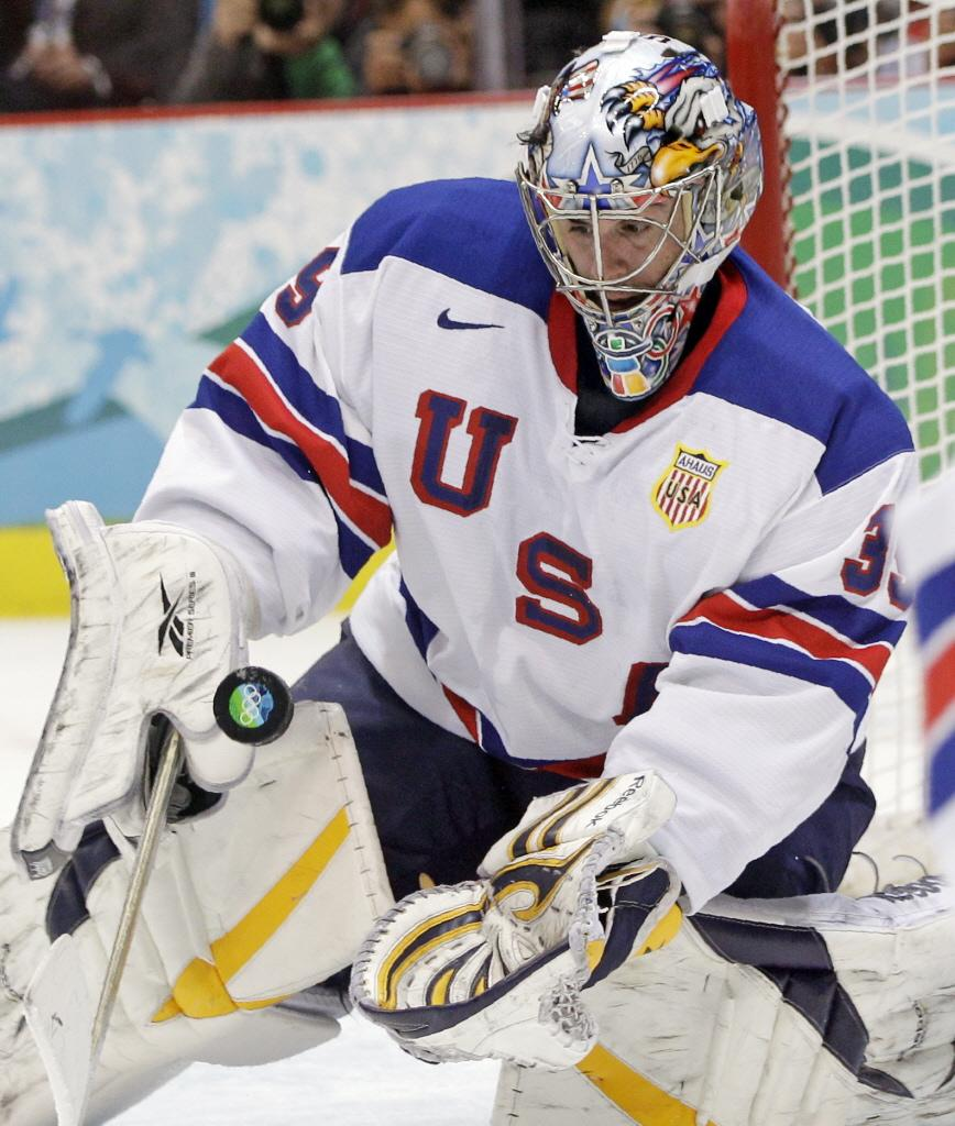 U.S.+Goaltender+Ryan+Miller+led+the+team+to+an+unexpected+silver+medal+in+2010.