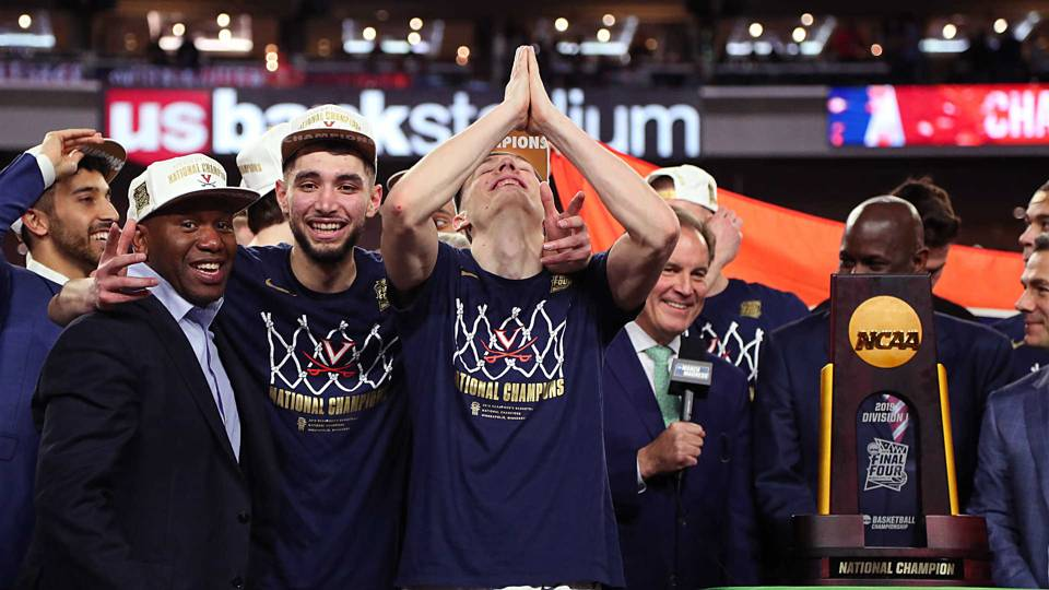 Virginia celebrates their first national championship