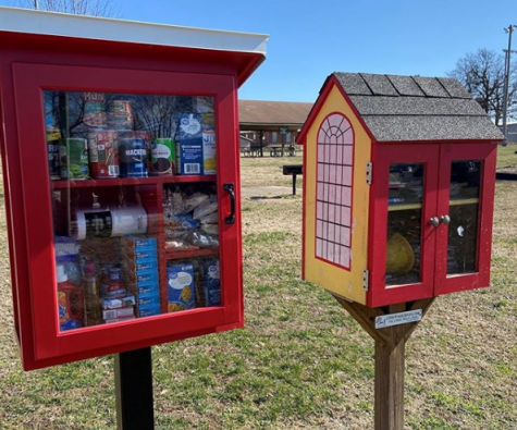 Two Little Free Pantries, in Arkansas, created through public generosity. This initiative fuels for light at the end of the dangerous, COVID-19 tunnel.