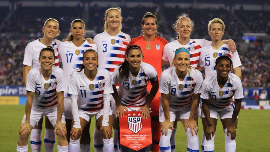 Members of the US Women's Soccer team